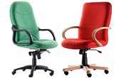 Delivered Assembled Fabric Manager Chairs
