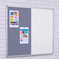 Dual Whiteboards/ Noticeboards