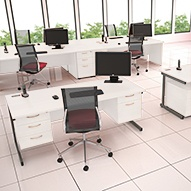 Next Day Vogue White Desks