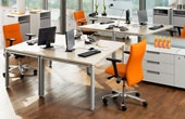 BN Primo Space Veneer Sloped Desks
