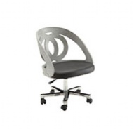 Spectrum Grey Real Wood Veneer Office Chair