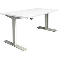 Commerce II White Sit Stand Desks