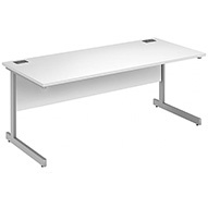 Commerce II Deluxe White Rectangular Desks