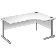 Commerce II Deluxe White Ergonomic Desks