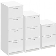Commerce II White Filing Cabinets
