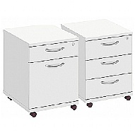 Commerce II White Drawer Pedestals
