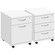Commerce II White Drawer Pedestals