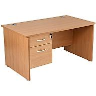Next Day Karbon K2 Panel End Fixed Pedestal Desks