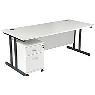 Next Day Karbon K3 Deluxe Mobile Pedestal Cantilever Desks