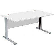 Commerce II Systems White Rectangular Desks