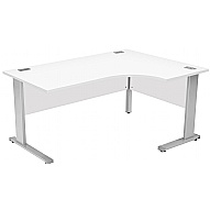 Commerce II Systems White Ergonomic Desks
