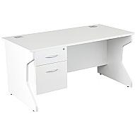 NEXT DAY Karbon K4 Fixed Pedestal Panel End Desks