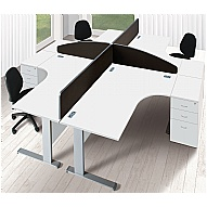 Commerce II Systems White Office Desks