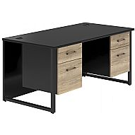 NEXT DAY Noir Pedestal Desks