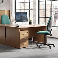 Next Day Karbon K2 Panel End Office Desks