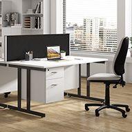 Next Day Karbon K3 Deluxe Rectangular Cantilever Desks
