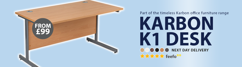 Karbon K1 Rectangular Cantilever Office Desks