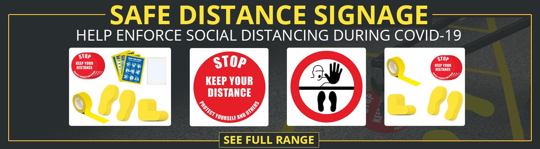 Safe Distance Signage
