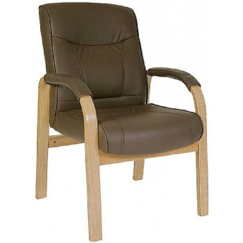 Richmond Brown Leather Faced Visitor Chair £171 -