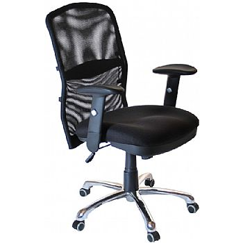 Cologne Chrome Mesh Manager Chair £99 -
