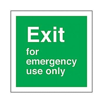 Exit for emergency use only £2 -