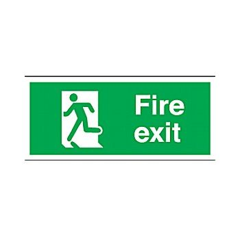 Fire Exit Running Man Left £3 -