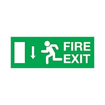 Fire Exit Down Arrow £6 -