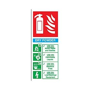 Dry Powder Fire Extinguisher Sign £2 -