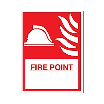 Fire Point Sign £6 -