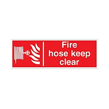 Fire Hose Keep Clear Sign £2 -