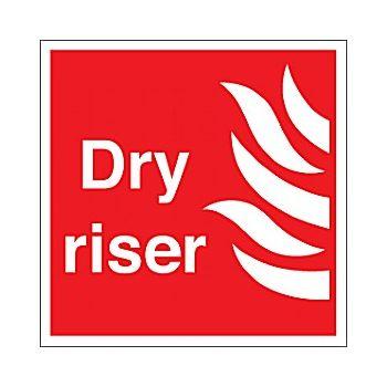Dry Riser Sign £4 -