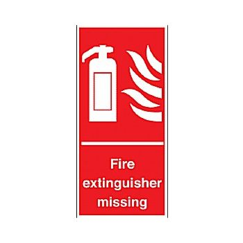 Fire Extinguisher Missing Sign £3 -