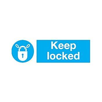 Keep Locked Sign £2 -