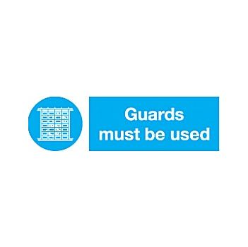 Guards Must Be Used Sign £2 -