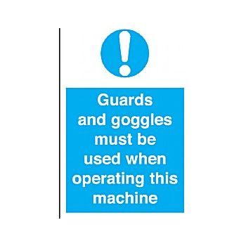 Guards And Goggles Must Be Used When Operating This Machine £6 -