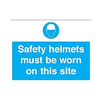 Safety Helmets Must Be Worn On This Site Sign £13 -
