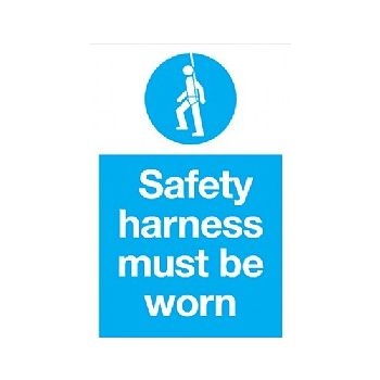 Safety Harness Must Be Worn Sign £6 -