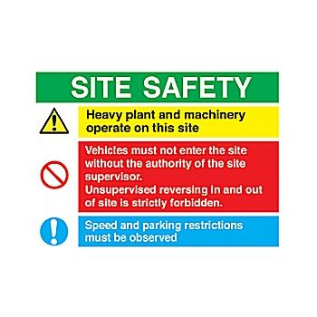 Site Safety Sign 2 £24 -