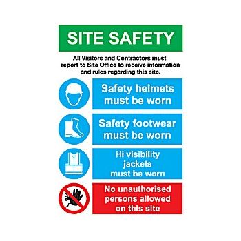 Site Safety Sign 8 £33 -