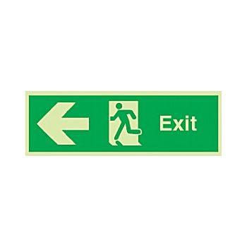 Fire Exit Left Arrow Gemglow Sign £18 -