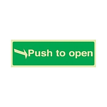 Right Arrow Push To Open Gemglow Sign £10 -