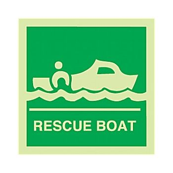 Gemglow Rescue Boat Sign £2 -