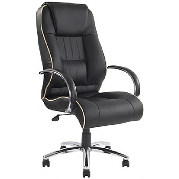 Toulouse Black Leather Manager Chair