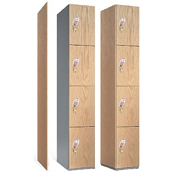 Timber Faced Lockers With ActiveCoat