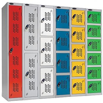 Perforated Door Lockers WIth ActiveCoat