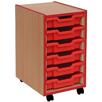 Coloured Edge 6 Tray Shallow Storage Unit £103 -