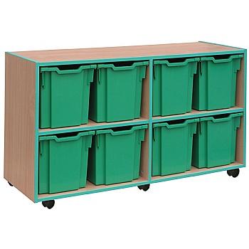 Coloured Edge 8 Tray Jumbo Storage Unit £274 -
