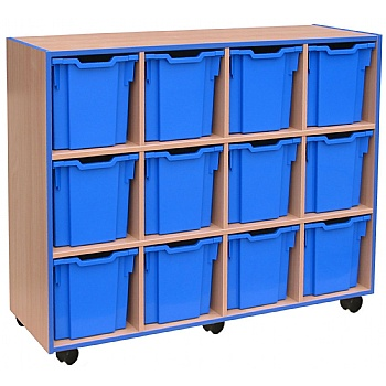 Coloured Edge 12 Tray Jumbo Storage Unit £317 -