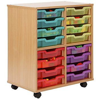 Storage Allsorts 16 Shallow Jelly Tray Unit