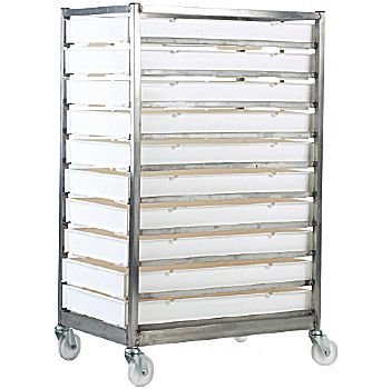 10 Tray Stainless Steel Tray Rack